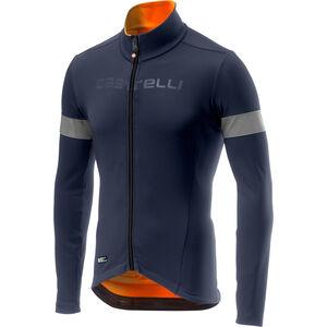 Castelli Nel Mezzo Rain Or Shine Langarm Trikot Herren dark steel blue/orange dark steel blue/orange