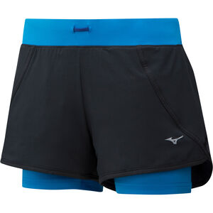 Mizuno Mujin 4.5 2in1 Shorts Women Black/Brilliant Blue bei fahrrad.de Online