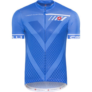 Castelli Velocissimo Jersey FZ Herren drive blue drive blue
