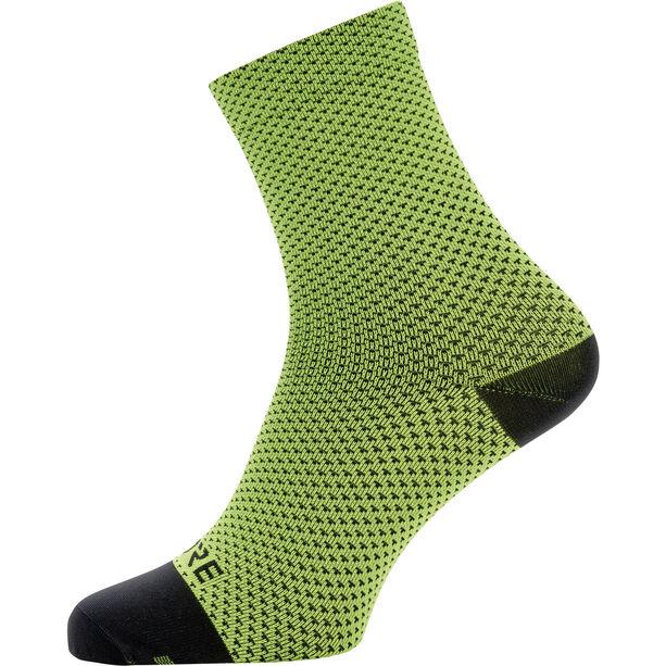 GORE WEAR C3 Dot Mid Socks neon yellow/black