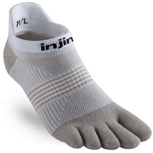 Injinji Run Coolmax Xtra Lightweight No Show Socks Women White/Sand