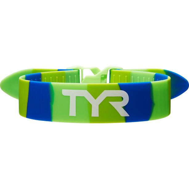 TYR Training Pull Strap green/blue