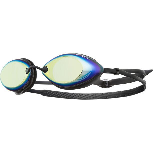 TYR Tracer Racing Mirrored Goggles metallic/yellow