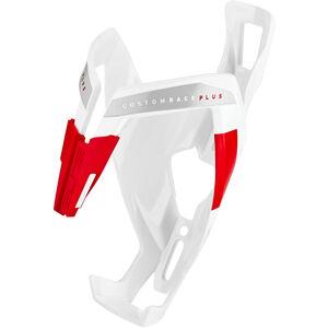 Elite Custom Race Plus Flaschenhalter weiß glänzend/rote grafik weiß glänzend/rote grafik