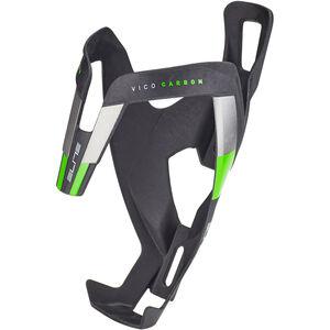 Elite Vico Flaschenhalter Carbon schwarz matt/grüne grafik schwarz matt/grüne grafik
