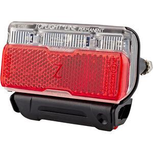 Busch + Müller Toplight Line Batterie-Rücklicht permanent, 80 mm schwarz/rot schwarz/rot