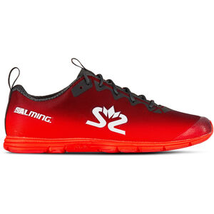 Salming Race 7 Shoes Damen forged iron/poppy red forged iron/poppy red