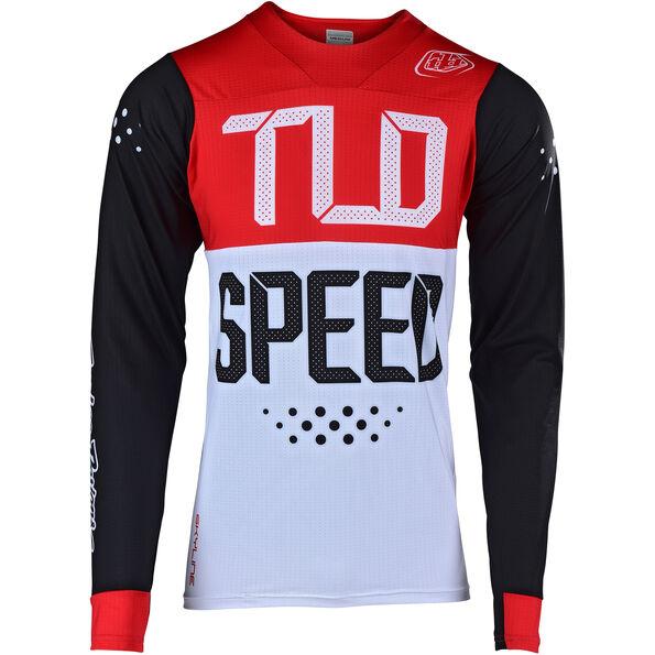 Troy Lee Designs Skyline Air LS Jersey Herren speedshop/black/red
