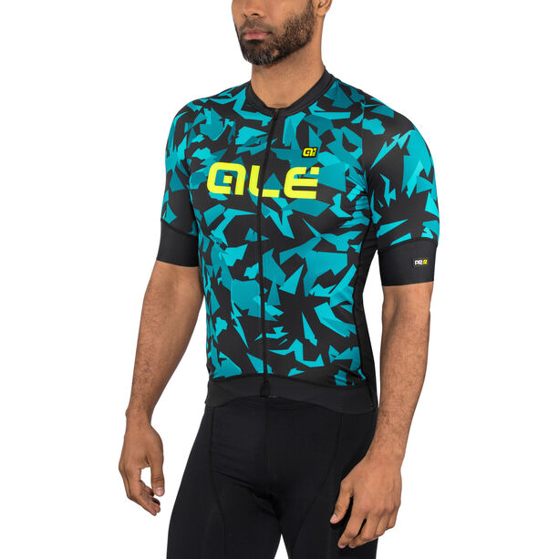 Alé Cycling Graphics PRR Glass SS Jersey Herren black petr-turquise