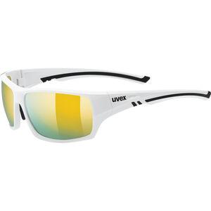 UVEX Sportstyle 222 Pola Sportglasses white/mirror yello bei fahrrad.de Online