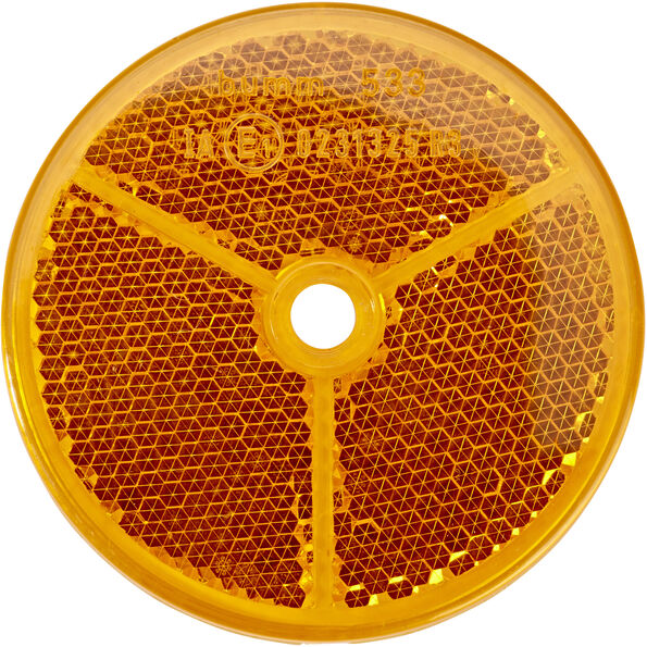 Busch + Müller Rückstrahler Ø6,5cm orange