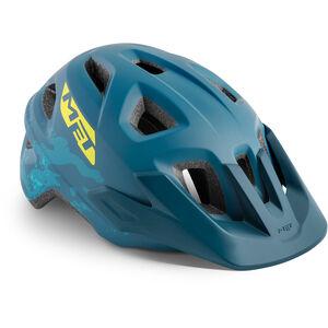 MET Eldar Helm Kinder petrol blue camo petrol blue camo