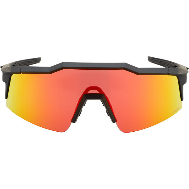 100% Speedcraft Glasses Small soft tact black | hd multilayer red mirror