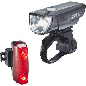 CatEye GVolt 25 HL-EL360GRC + Rapid Micro G HL-EL620G Set schwarz/rot schwarz/rot