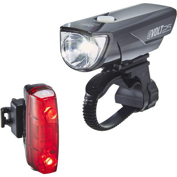 CatEye GVolt 25 HL-EL360GRC + Rapid Micro G HL-EL620G Set