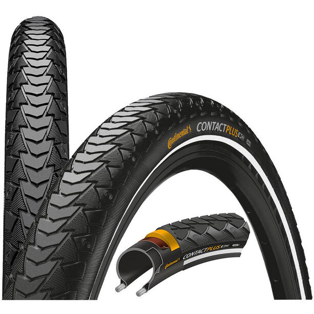 "Continental Contact Plus Reifen SafetyPlus Breaker 28"" Draht Reflex"