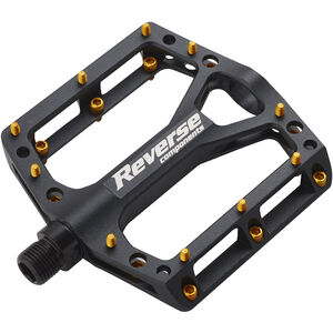 Reverse Black One Pedals black/gold