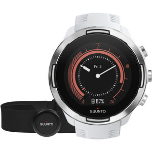 Suunto 9 GPS Mulitsport Watch with HR Belt Baro White bei fahrrad.de Online