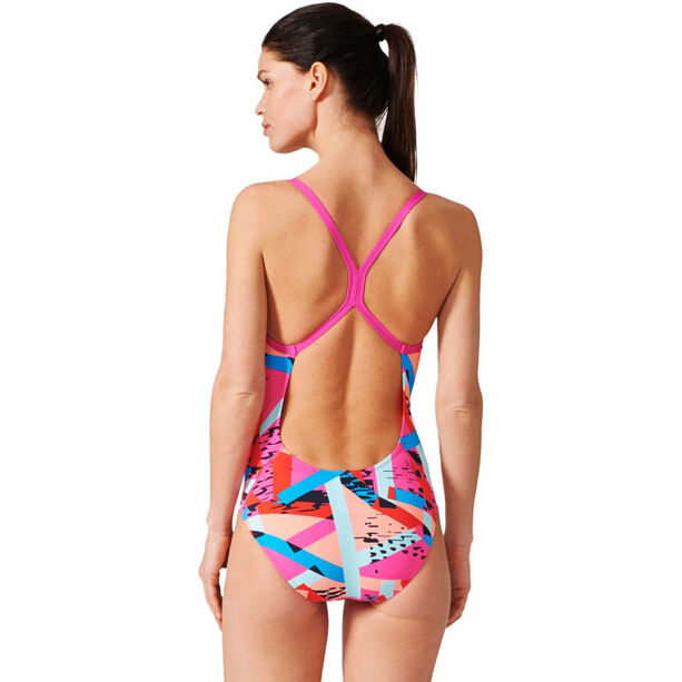 adidas Perf Swim Inf+ Swimsuit Damen shock pinkbright blue/sun glow