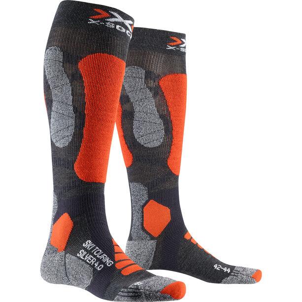 X-Socks Ski Touring Silver 4.0 Socken Herren anthracite melange/orange fluo