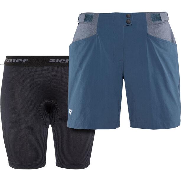 Ziener Nariam X-Function Shorts Damen antique blue