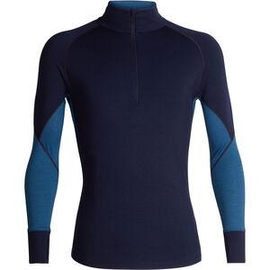 Icebreaker 260 Zone LS Half Zip Shirt Men midnight navy-prussian blue