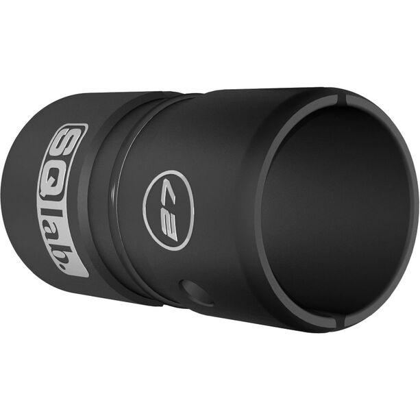 SQlab Lenkerhülse Alu 27,0 auf 31,8 mm eloxiert schwarz schwarz