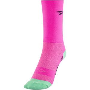 "DeFeet Aireator 5"" Double Cuff Socken d-logo/neon pink d-logo/neon pink"