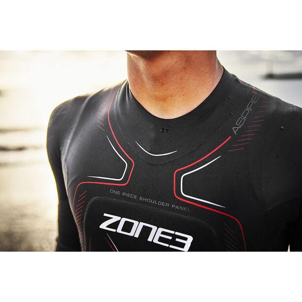 Zone3 Aspire Wetsuit Herren black/gun metal/red
