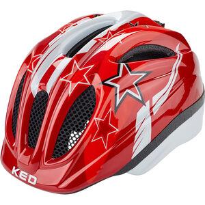 KED Meggy Helmet Kinder red stars red stars