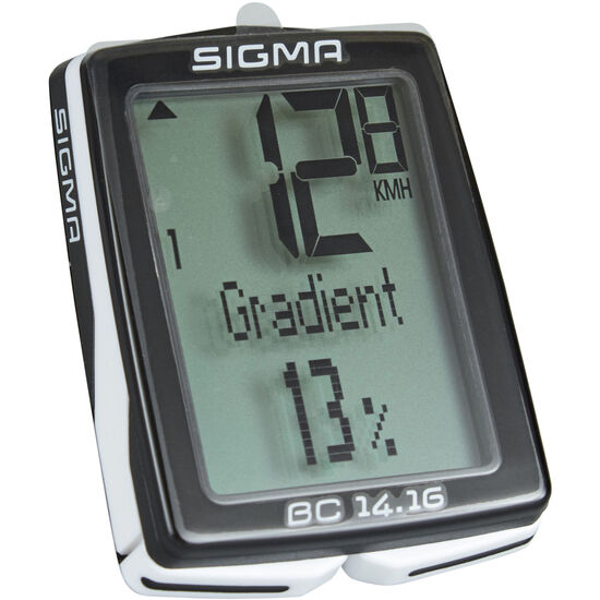 SIGMA SPORT BC 14.16 Fahrradcomputer kabelgebunden schwarz bei fahrrad.de Online
