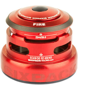 Sixpack Fire 2In1 Steuersatz ZS44/28.6 I EC49/30 and ZS44/28.6 I EC49/40 red