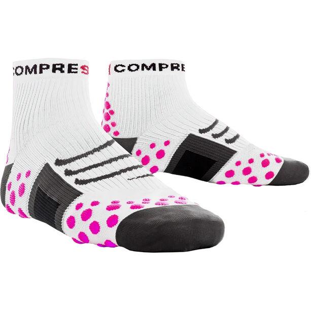 Compressport ProRacing Run High Socks white/pink