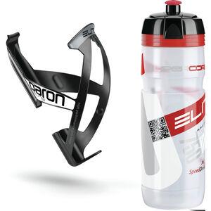 Elite Kit Supercorsa/Paron Trinkflasche & Halter 750 ml clear-rot/schwarz-weiß bei fahrrad.de Online