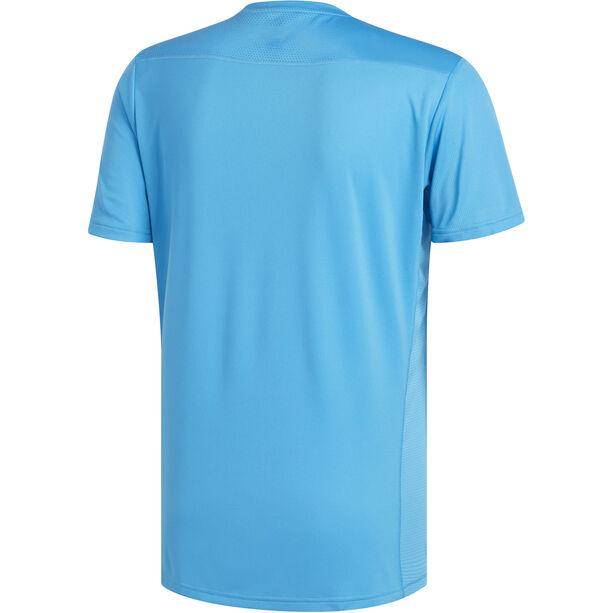 adidas Own The Run T-Shirt Herren shock cyan/reflective silver shock cyan/reflective silver
