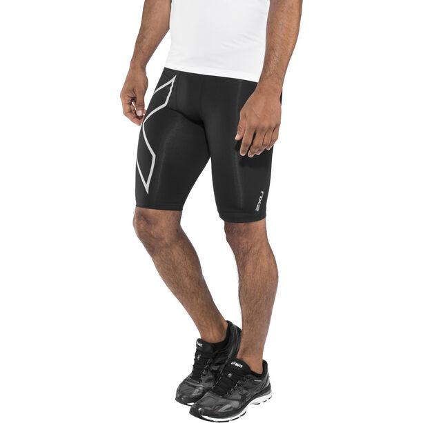 2XU Run Compression Shorts mit Rückenfach Herren black/silver reflective