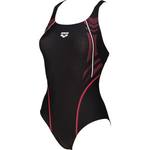 arena Energy Swim-Pro One Piece Swimsuit Damen black-fluo red black-fluo red