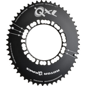 Rotor QXL-Ring Road Aero Kettenblatt 110mm 5-Arm außen schwarz