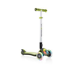 Globber Elite Prime Roller mit Batterielosen LED Blink-Rollen Kinder green green