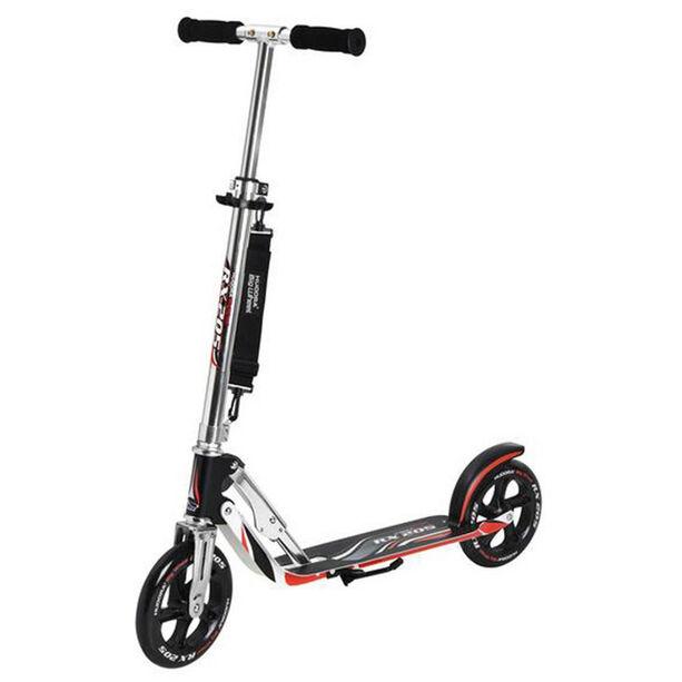 HUDORA Big Wheel City Scooter Kinder schwarz/silber/rot