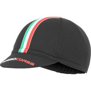 Castelli Rosso Corsa Cycling Cap Herren black black