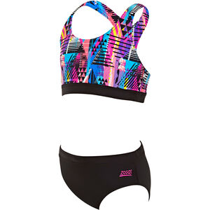 Zoggs Labrynth Muscle Bikini Girls 2 Pieces Multi
