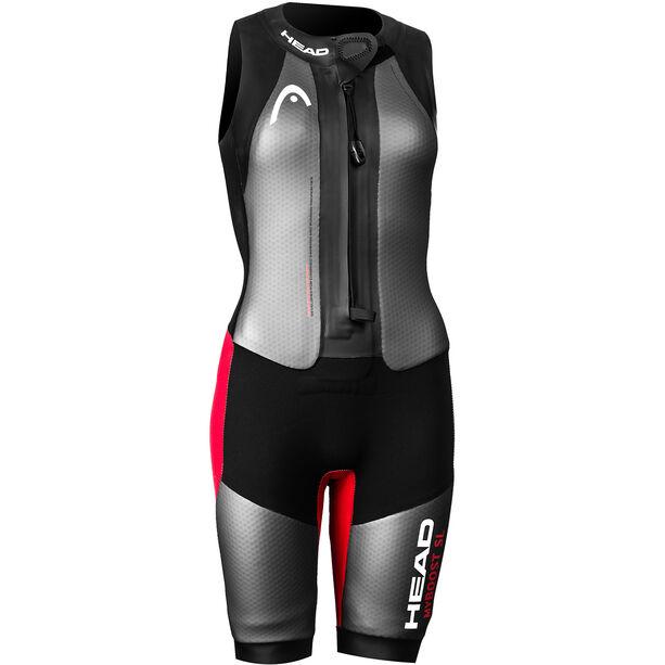Head Swimrun MyBoost SL Wetsuit Damen black-silver-red