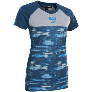ION Scrub AMP Distortion Kurzarm-Shirt Damen ocean blue ocean blue