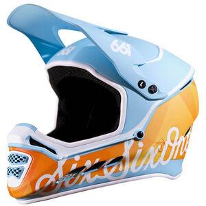 SixSixOne Reset MIPS Fullface Helm geo blue/orange geo blue/orange