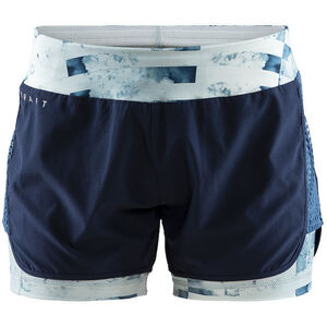 Craft Charge 2-in-1 Shorts Damen blaze/print jumble blaze/print jumble