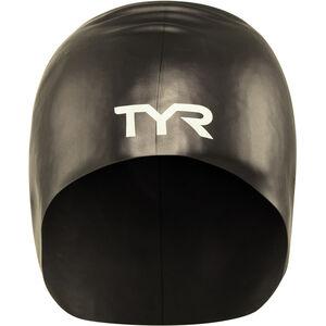 TYR Wrinkle-Free Long Hair Swimming Cap black black