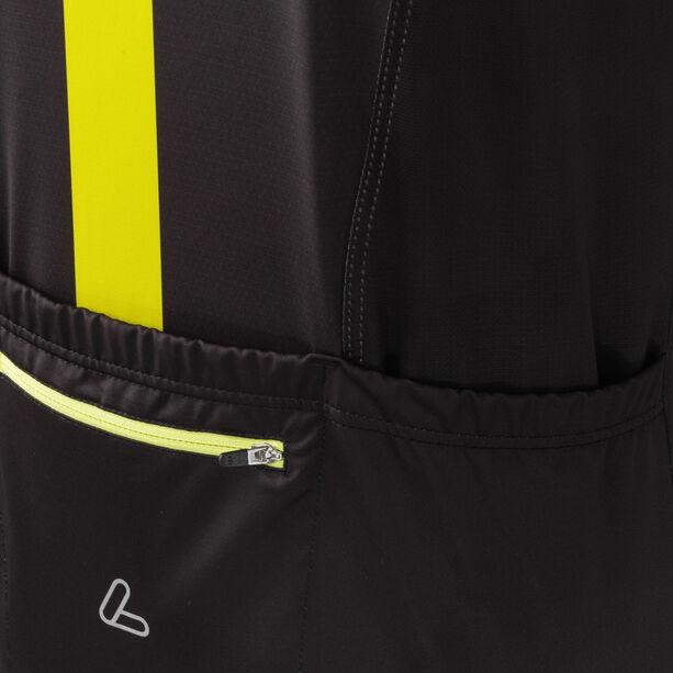 Löffler Hotbond Reflective Bike Jersey Full-Zip Herren schwarz/zitrone