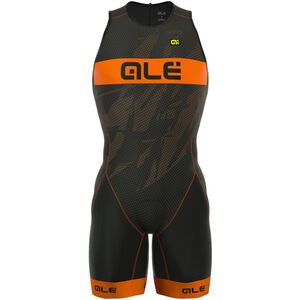 Alé Cycling Triathlon Olympic Record Tri Body Back Zipper Herren black-fluo orange black-fluo orange