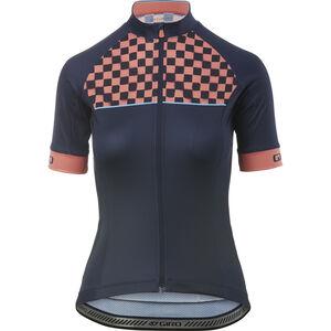 Giro Chrono Sport Jersey Damen midnight blue checks midnight blue checks